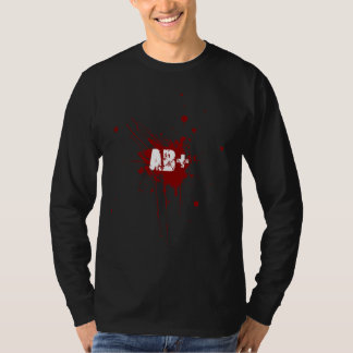 AB positive Blood Type Donation Vampire Zombie T-shirt