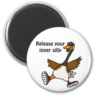 AB- Release Your Inner Silly - Goose 2 Inch Round Magnet