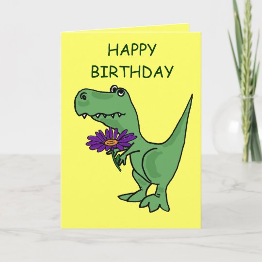AB T Rex Birthday Card
