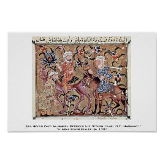 Aba Helps Zayd Al-Harith Print