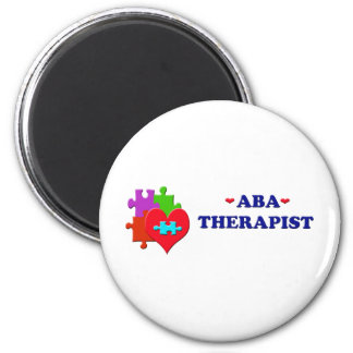 ABA Therapist 2 Inch Round Magnet