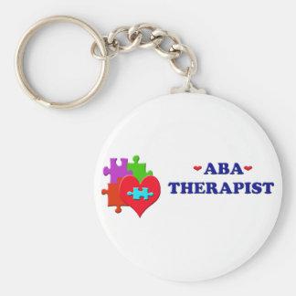ABA Therapist Basic Round Button Keychain