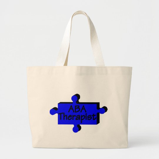 ABA Therapist (Blue P) Large Tote Bag