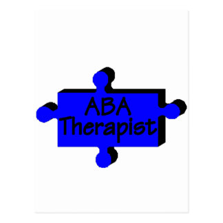 ABA Therapist (Blue) Postcard