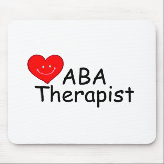 ABA Therapist (Heart) Mouse Pad