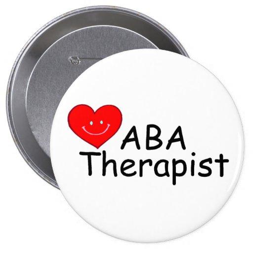 ABA Therapist (Hrt) 4 Inch Round Button