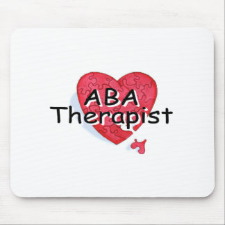 ABA Therapist (Hrt Puzzle) Mouse Pad