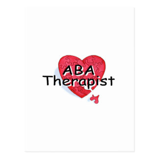 ABA Therapist (Hrt Puzzle) Postcard
