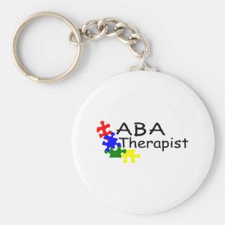 ABA Therapist (PP) Basic Round Button Keychain