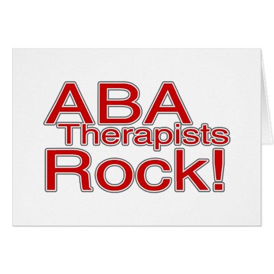 ABA Therapist Rock! Card