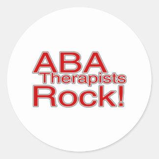 ABA Therapist Rock Classic Round Sticker