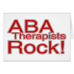 ABA Therapist Rock Greeting Cards