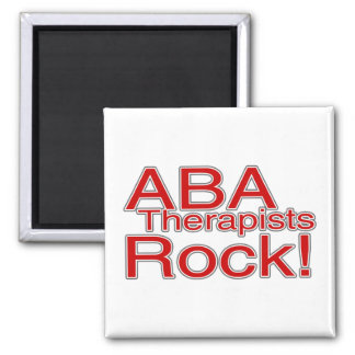 ABA Therapist Rock Magnet