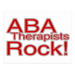 ABA Therapist Rock Post Card