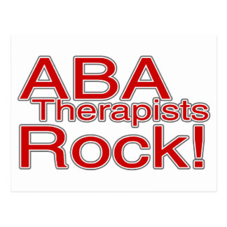 ABA Therapist Rock Postcard