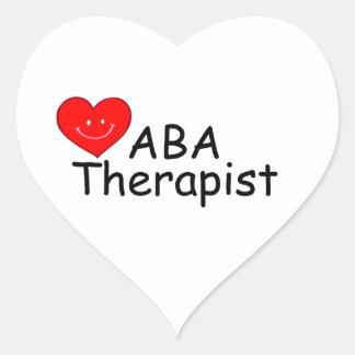 ABA Therapist (S Heart) Heart Sticker