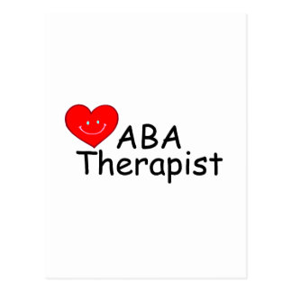 ABA Therapist (S Heart) Postcard