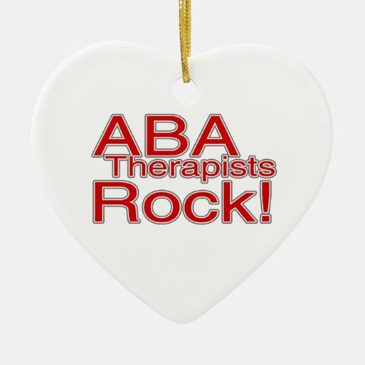 ABA Therapists Rock Autism Ornament