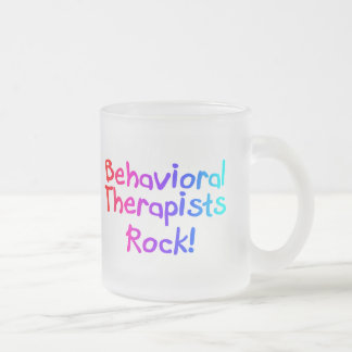 ABA Therapists Rock (Bright) Frosted Glass Coffee Mug