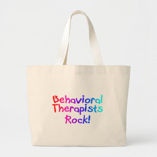 ABA Therapists Rock (Bright) Large Tote Bag