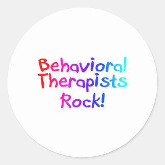 ABA Therapists Rock (Bright) Classic Round Sticker