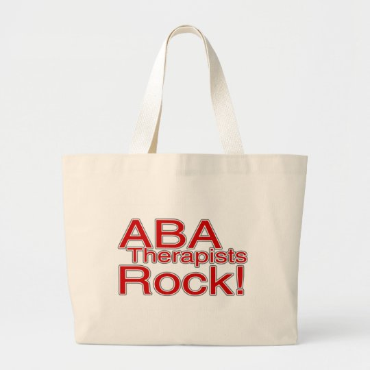 ABA Therapists Rock Large Tote Bag
