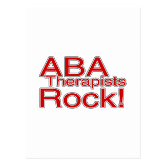 ABA Therapists Rock Postcard