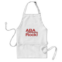 ABA Therapists Rock (Red) Adult Apron