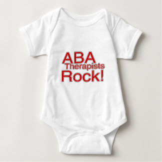 ABA Therapists Rock (Red) Baby Bodysuit