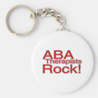 ABA Therapists Rock (Red) Basic Round Button Keychain