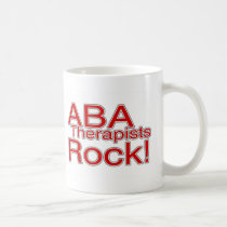 ABA Therapists Rock (Red) Coffee Mug