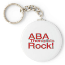 ABA Therapists Rock (Red) Keychain