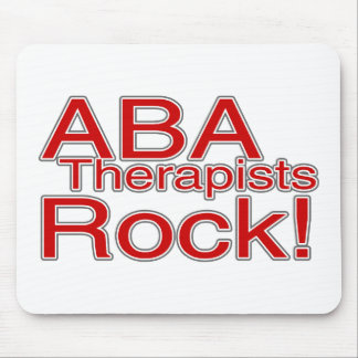 ABA Therapists Rock (Red) Mouse Pad