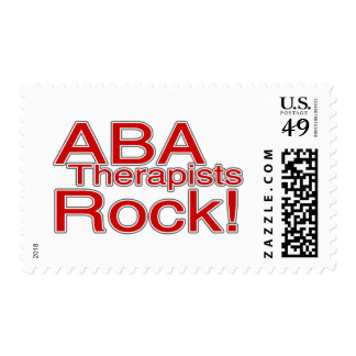 ABA Therapists Rock (Red) Postage