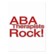 ABA Therapists Rock (Red) Postcard