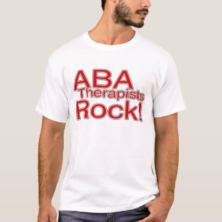ABA Therapists Rock (Red) T-Shirt