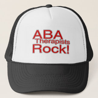 ABA Therapists Rock (Red) Trucker Hat