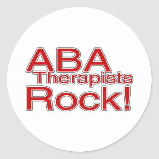 ABA Therapists Rock Classic Round Sticker