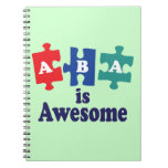 ABA Therapy Is Awesome Spiral Notebook