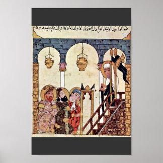 Aba 'Zayd Preaching In The Morschee Of Samarkand Print