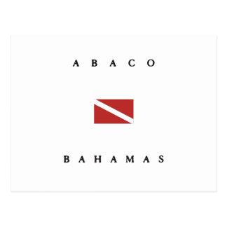 Abaco Bahamas Scuba Dive Flag Postcard