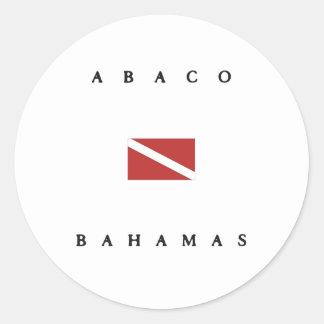 Abaco Bahamas Scuba Dive Flag Round Stickers