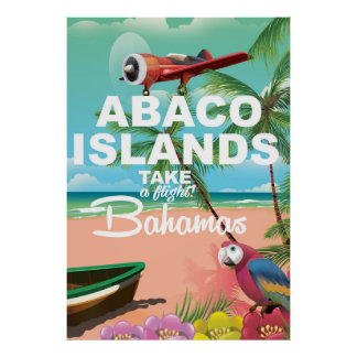 Abaco Islands vacation poster