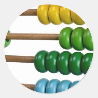 Ábaco para los niños pegatina redonda