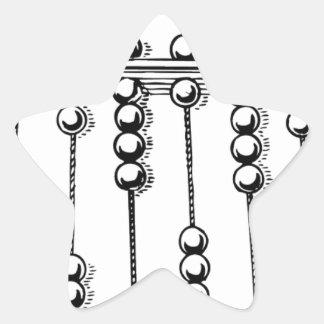 Ábaco Calcomania Forma De Estrella Personalizadas