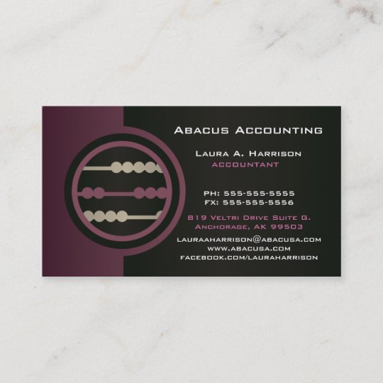 Abacus accounting business cards zazzle abacus accounting business cards reheart Images