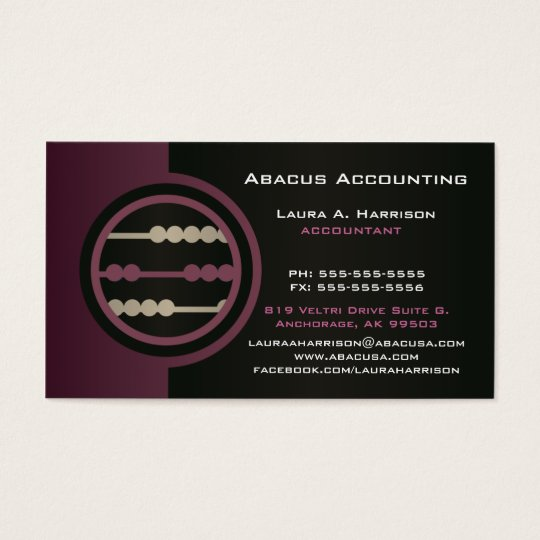 Abacus accounting business cards zazzle abacus accounting business cards colourmoves