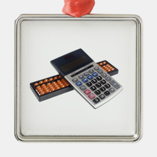 Abacus and calculator christmas tree ornament