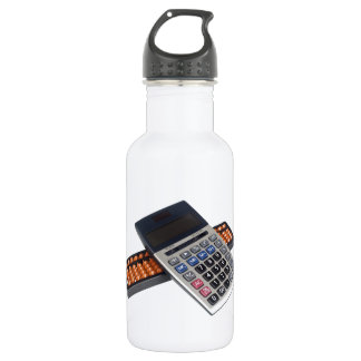 Abacus and calculator water bottle