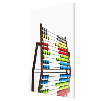 Abacus, computer artwork. stretched canvas print